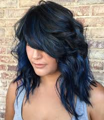 Blue Black Hair How To Get It Right Blue Streaks In Hair