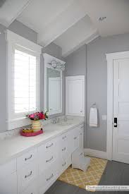 gray bathroom colors. Fine Colors My Girlsu0027 Bathroom Is Also Painted In U201cSeattleu201d I Had A Different Color  Ready For This Room And Just Like The Mudroom Changed My Mind At Last Minute  Throughout Gray Bathroom Colors E