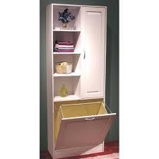 Bathroom Cabinet Tall Tall Bathroom Cabinet With Hamper Home Design Ideas