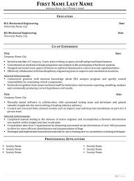 14 Impressive Experience Resume Format For Mechanical Design
