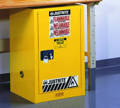 Yellow Flammable Cabinet Justrite Sure Grip Ex Safety Cabinet For Flammable Liquids 1 Self