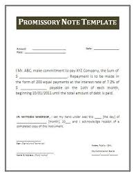 Promisary Note Template