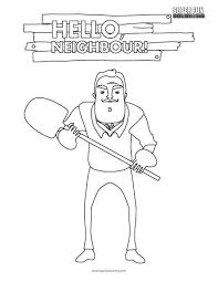 Hello Neighbor Coloring Page Super Fun Coloring