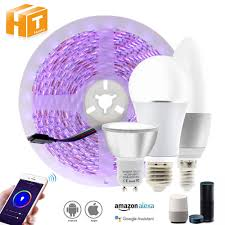 Types App Controlled Led Lights Us 11 39 30 Off Tuya Smart Control Wifi Rgb Led Strip Light Smart Life App Compatible With Amazon Alexa And Google Home Control By Voice In Led