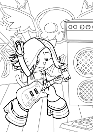 Small Picture Rock Star Coloring Page Handipoints