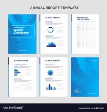 Annual Report Template Design Modern annual report template with cover design Vector Image 1