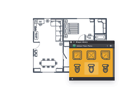 create a set of indoor floor plan shapes