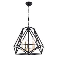 Sansa 5 Light Chandelier Farmhouse Chandelier Pendant Lamp Industrial Hanging Light With Black And Gold Metal Finish For Dining Room Foyer Living Room Dining Room 5 Lights