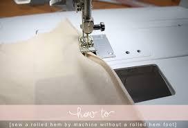 Rolled Hem On Sewing Machine
