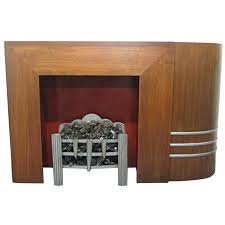spectacular streamline art deco fireplace mantel for