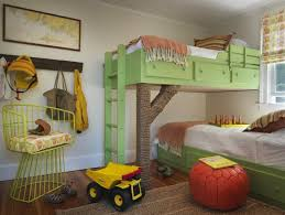 For privacy's sake, this family chose to divide a shared bedroom with an inconspicuous pocket door. Bedroom Decor Idea The Shared Child Room A Spicy Boy