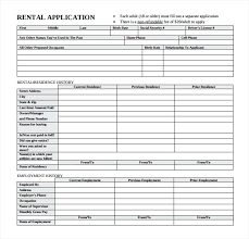 Rental Application Free Word Documents Download Within Home House ...