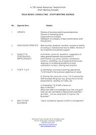 Sample Staff Meeting Agenda Sample staff meeting agenda practical meowings 1