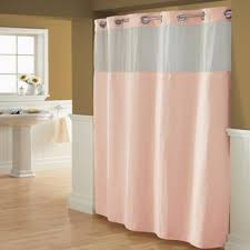 coral and brown shower curtain. hookless® waffle 54-inch x 80-inch fabric shower curtain in blush coral and brown o