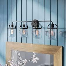 Vanity lighting Black Portland 4light Vanity Light Wayfair Light Bathroom Vanity Lighting Youll Love Wayfair