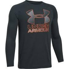 under armour shirts for boys. under armour boys\u0027 big logo hybrid long sleeve t-shirt shirts for boys a