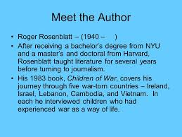 "heroism ""man in the water"" a nonfiction essay by roger rosenblatt  meet the author roger rosenblatt 1940 after receiving a bachelor s degree from"