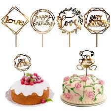 Detail Feedback Questions About Happy Birthday Cake Topper Golden