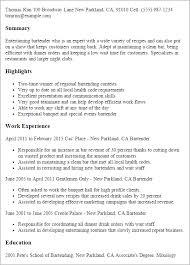 Bartending Resume Templates - Solarfm.tk