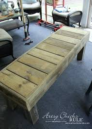 simple diy outdoor bench thrifty