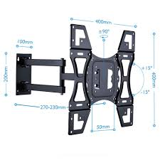 tv wall mount removable face plate swing arm quick disconnect for 22 50 led lcd