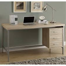 reclaimed wood office. Taylor Hollow-Core Office Desk Silver Metal And Natural Reclaimed Wood-Look Wood