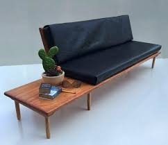 mid century modern dollhouse furniture. Mid Century Modern Dollhouse Furniture Scale Leather Sofa Couch Floating Table Doll Living