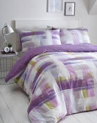 studio lilac duvet cover set super kingsize