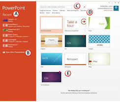 Powerpoint Presentation Gallery Presentation Gallery In Powerpoint 2013 For Windows