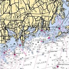 Connecticut Darien Rowayton Nautical Chart Decor