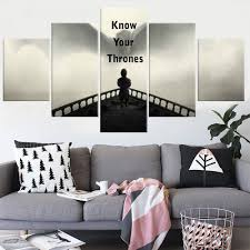 Painting Canvas For Living Room 5 Panel Painting Canvas Modern Home Decor Game Of Thrones Canvas