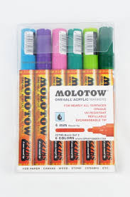 Molotow One4all Color Chart Molotow One4all 6 Colors Basic Set 2 4mm Refillable