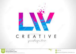 Lw Logo Design Lw L W Letter Logo With Shattered Broken Blue Pink Texture