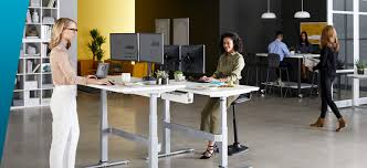 standing office table. VARIDESK ProDesk 60 Electric Standing Desk In An Active Office Environment Table