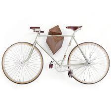 minimalist wooden bicycle racks