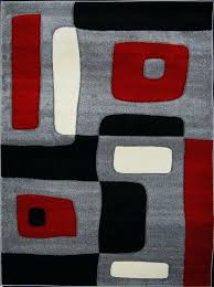 black white gray area rugs red and amazing 7 grey modern rug kitchen pertaining to