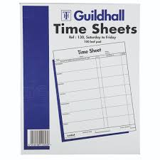 Sheet Time Guildhall Time Sheet 254 X 203mm Saturday Friday Pack Of 100 1653