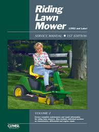 Proseries Riding Lawn Mower Service Repair Manual Volume 2- Covers ...