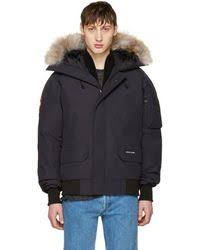 Canada Goose - Navy Down Chilliwack Bomber Jacket - Lyst