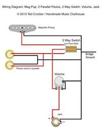 guitar wiring diagram 2 humbuckers 3 way lever switch 2 volumes 1 ted crocker wiring diagram 1 single coil 2 piezo 1 vol 3