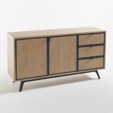 <b>Шкаф</b>-буфет с 2 дверцами и 3 ящиками daffo светло-коричневый ...