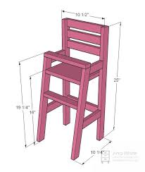 high chair furniture. ana white | build a doll high chair free and easy diy project furniture