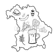 33729423 map of bavaria oktoberfest symbols black and white vector illustration?ver=6 228 outline crayfish cliparts, stock vector and royalty free on crayfish worksheet