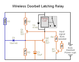 solved] wireless doorbell to operate and latch a relay heath zenith doorbell wiring diagram re wireless doorbell to operate and latch a relay