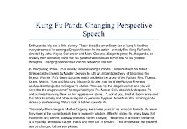 kung fu panda changing perspective speech in the action comedy  document image preview