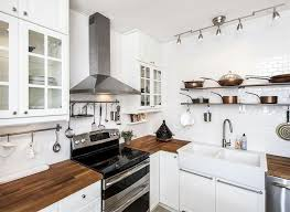 amazing small farmhouse kitchen with white glass door cabinets and with small white kitchen