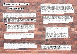 xtraresources employabilitysocialsciences case study of a volunteer