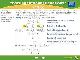 2 solving rational equations
