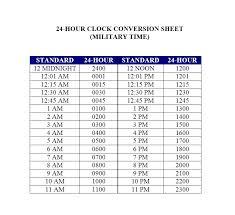 Time Clock Chart Conversion 24 Hour Time Clock Conversion Chart Www Bedowntowndaytona Com