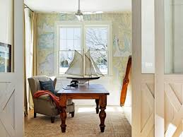 wallpapered office home design. Wallpapered Office Home Design D